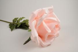 x031fz Pink artificial rose H110cm