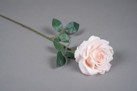 x032am Light pink artificial rose H66cm