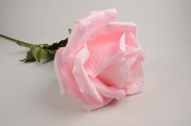 x032fz Pink artificial rose H105cm