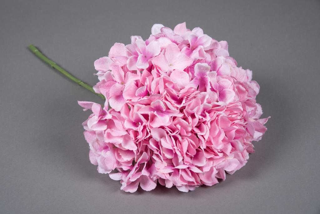 x032jp Hortensia artificiel rose H45cm