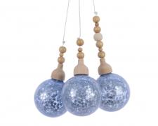 X032KI Deco 3 silver balls H27cm