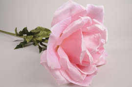 x033fz Pink artificial rose H110cm