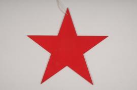 X033L7 Étoile en velours rouge D29cm