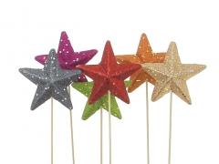 X033Y8 Pack of 12 assorted picks star diameter 9.5cm height 50cm