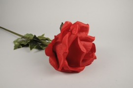 x034fz Red artificial rose H105cm