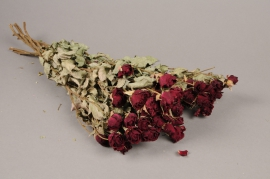 x034kh Dried spray roses H50cm