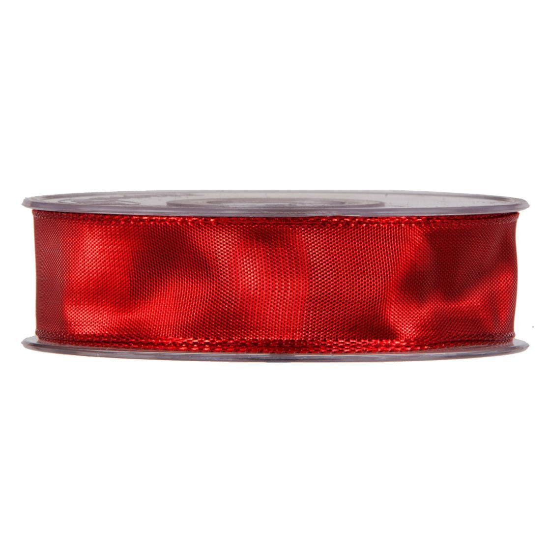 X037UN Ruban métallisé armé rouge 25mmx20m