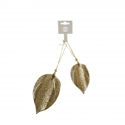 X039DQ Pack of 2 gold metal leaves