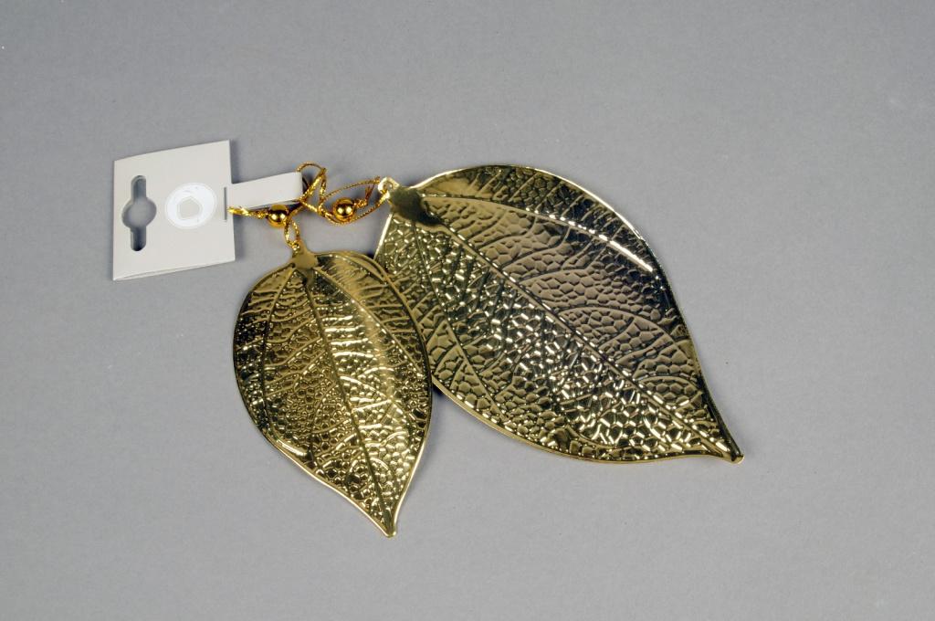 X039DQ Set de 2 feuilles en métal or