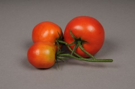 x039ee Bunch of 3 artificial red tomatoes red