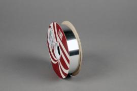 X041ZR Ruban métal brillant argent 30mm x 100m