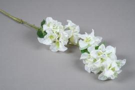 x042am Branche de bougainvillier artificiel blanc H83cm