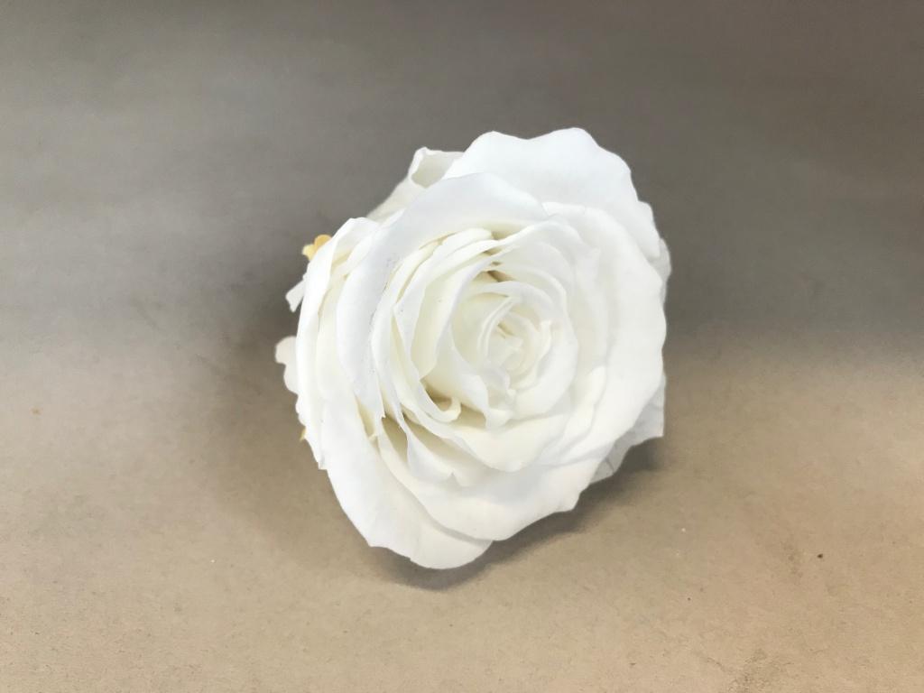 x042vv Boîte de 6 roses préservées blanches