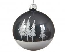 X043KI Boîte de 6 boules verre arbre D8cm