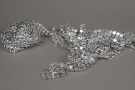 X043UN Rouleau de demi perles argent 3cm x 9m