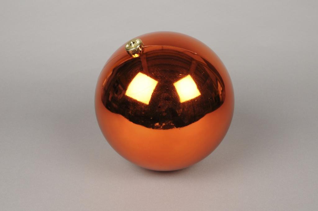 X043ZY Bright plastic ball copper D20cm