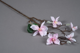 x044am Light pink artificial magnolia branch H64cm