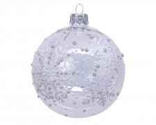 X044KI Boîte de 6 boules en verre transparent D8cm