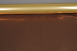 X046QX Copper and chocolate metallic paper roll 70cm x 50m