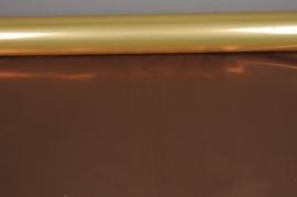 X046QX Rouleau de papier métal cuivre et chocolat 70cm x 50m