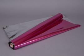 X049QX Metallic paper roll fuchsia  0,70x50m