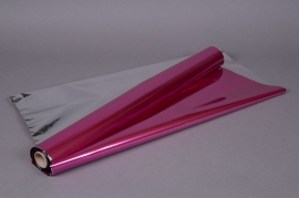 X049QX Rouleau de papier métallisé fuchsia  0,70x50m