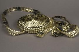 X049UN Roll gold diamonds spike 2,5cm x 9m