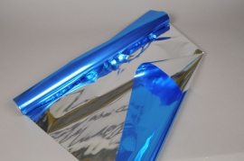 X050QX Rouleau de papier métallisé bleu 70cm x 50m