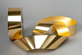 X050ZR Bright gold metal ribbon 48mm x 100m