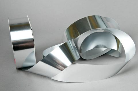 X051ZR Ruban en métal brillant argent 48x100m