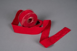 X052UN Red velvet ribbon 40mm x 7m