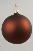 X053T1 Boîte de 12 boules mates chocolat en verre D6cm