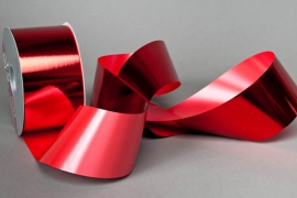 X056ZR Bright red metal ribbon 70mm x 100m