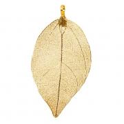 X057UN Set de 3 feuilles en métal or H8cm