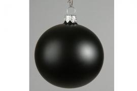 X058T1 Boîte de 12 boules en verre noir mat diamètre 6cm