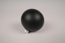X059T1 Boîte de 6 boules en verre mat noir D8cm