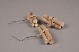 x060wg Boîte de 36 fagots de 3 rondins d'eucalyptus