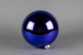 X060ZY Boule en plastique bleu D15cm