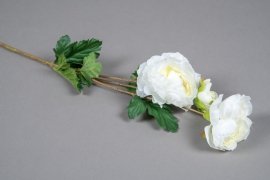 x061am Renoncule artificielle blanc crème H65cm