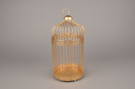 X061DQ Metal cage gold D18cm H40cm