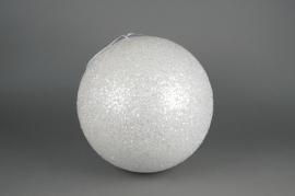 X062KI Boule sequins blanc D40cm