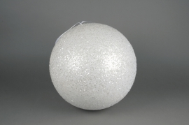X062KI White sequin ball D40cm