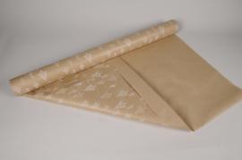 X064QX Rouleau de papier kraft naturel noël 80cmx40m