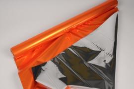 X066QX Rouleau de papier métal cuivre et argent 70cm x 50m