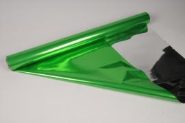 X067QX Green and silver metallic paper roll 70cm x 50m