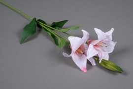 x071am Pink artificial lily H70cm