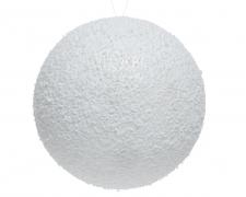 X071KI Boule enneigée blanche D14cm