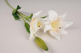 x072am Lilium artificiel blanc H70cm