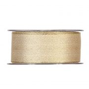 X073UN Satin ribbon gold 40mm x 20m