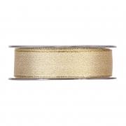 X076UN Satin ribbon gold 25mm x 20m